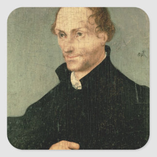 Porträtt av Philipp Melanchthon, 1532 Fyrkantigt Klistermärke