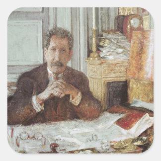 Porträtt av Philippe Berthelot Fyrkantigt Klistermärke