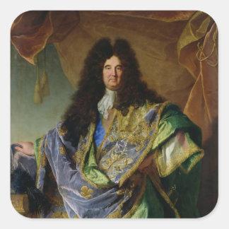 Porträtt av Philippe de Courcillon Markis Fyrkantigt Klistermärke