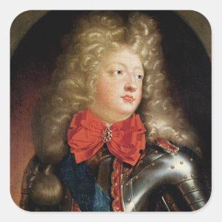 Porträtt av Philippe d'Orleans Fyrkantigt Klistermärke