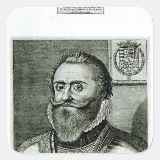 Porträtt av Philippe-Emmanuel de Lorraine Fyrkantigt Klistermärke