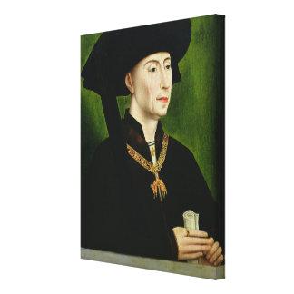 Porträtt av Philippe le Bon Duc de Bourgogne Canvastryck