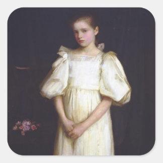 Porträtt av Phyllis Waterlow vid den John Fyrkantigt Klistermärke