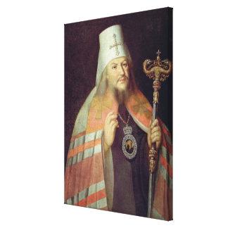 Porträtt av Plato II, ärkebiskop av Moscow Canvastryck