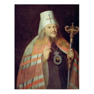 Porträtt av Plato II, ärkebiskop av Moscow Vykort