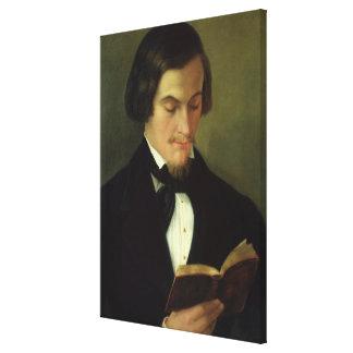 Porträtt av poeten Heinrich Heine 1842 Canvastryck