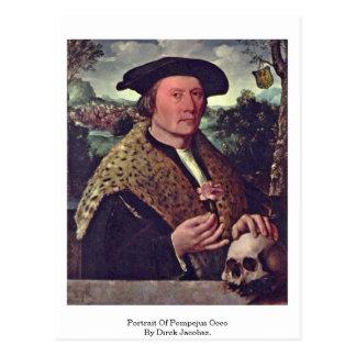 Porträtt av Pompejus Occo vid Dirck Jacobsz. Vykort