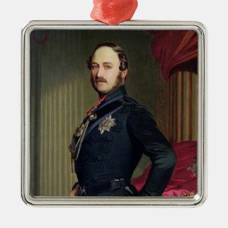 Porträtt av Prince Albert (1819-61) 1859 (olja på Julgransprydnad Metall