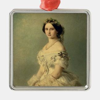 Porträtt av princessen av Baden, 1856 Julgransprydnad Metall