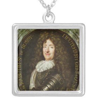 Porträtt av räkningen Roger Bussy de Rabutin Silverpläterat Halsband