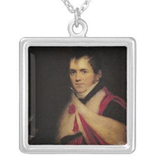 Porträtt av Rev. Edward Daniel Clarke c.1822 Silverpläterat Halsband