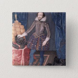 Porträtt av Richard Sackville, 3rd Earl av Standard Kanpp Fyrkantig 5.1 Cm