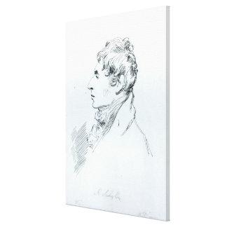 Porträtt av Robert Southey Canvastryck