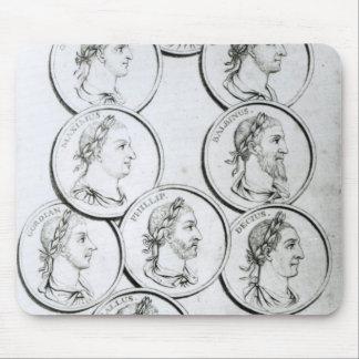 Porträtt av romerska kejsare musmatta