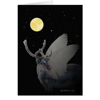 """Porträtt av """"Rudolf i månsken """", Hälsningskort"""