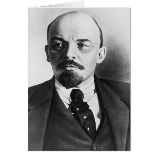 Porträtt av ryska Vladimir Ilyich Lenin Hälsningskort