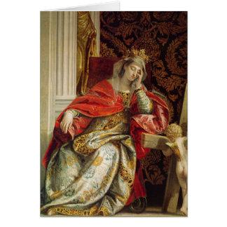 Porträtt av Saint Helena Hälsningskort