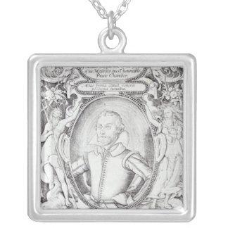 Porträtt av Samuel Daniel Silverpläterat Halsband