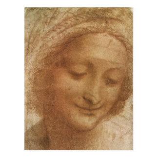 Porträtt av Sanktt Anne av Leonardo Da Vinci Vykort