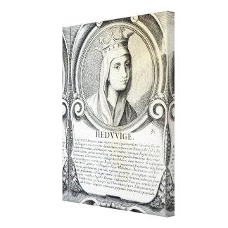 Porträtt av St.Jadwiga Canvastryck