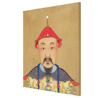 Porträtt av T'ai T'sin Che-Tsou (1638-61) Canvastryck