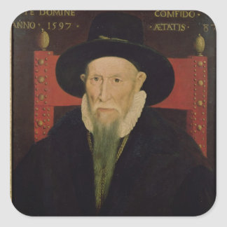 Porträtt av Theodore de Beze Fyrkantigt Klistermärke