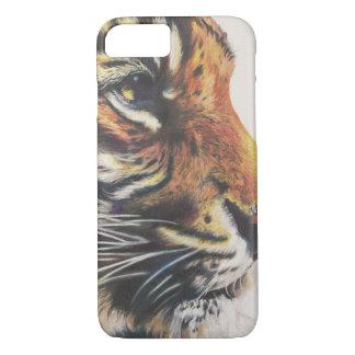 Porträtt av tigersidan beskådar