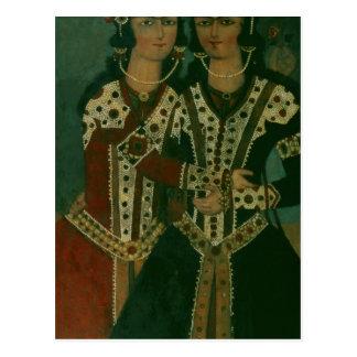Porträtt av twillingar vykort