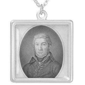 Porträtt av victoren Moreau Silverpläterat Halsband
