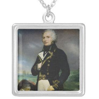 Porträtt av Viscount Alexandre-Francois-Marie Silverpläterat Halsband