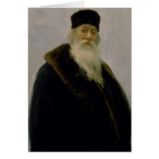 Porträtt av Vladimir Vasil'evich Stasov 1900 Hälsningskort