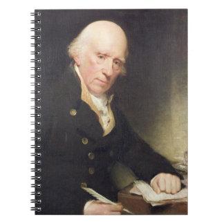 Porträtt av Warren Hastings (1732-1818) på hans De Anteckningsbok