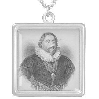 Porträtt av Weston 'loge brittiska porträtt Silverpläterat Halsband