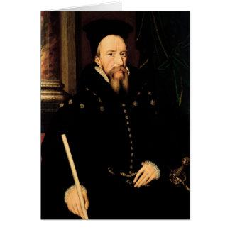 Porträtt av William Cecil Hälsningskort