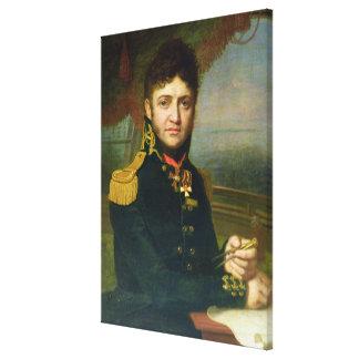 Porträtt av Yuri F. Lisyansky, 1810 Canvastryck