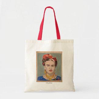Porträtt för Frida Kahlo en Coyoacán Budget Tygkasse