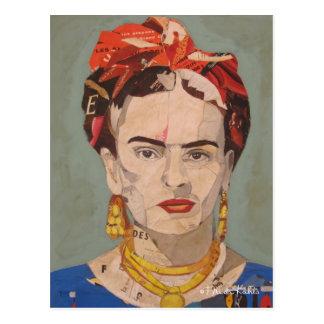 Porträtt för Frida Kahlo en Coyoacán Vykort