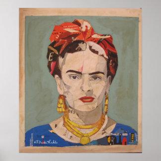 Porträtt för Frida Kahlo en Coyoacán Poster