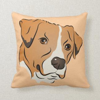 Porträtt för hund för boxareblandning grafiskt kudde