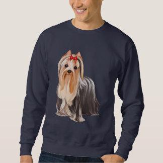 Porträtt för Yorkshire Terrier Lång Ärmad Tröja