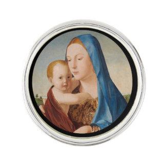 Porträtt Mary och baby Jesus Rockslagsnål