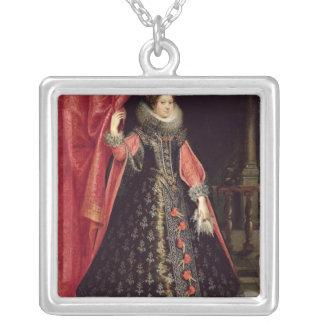 Porträtt som antas för att vara Henrietta Maria av Silverpläterat Halsband