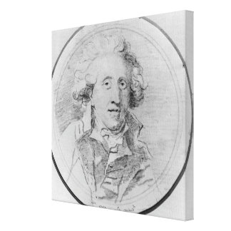Porträtt som antas för att vara Jean-Honore Fragon Canvastryck