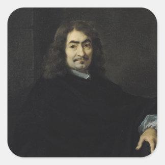 Porträtt som antas för att vara Rene Descartes Fyrkantigt Klistermärke