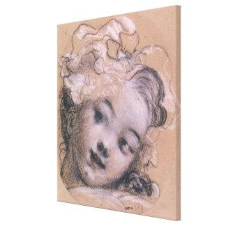 Porträtt som antas för att vara Rosalie Canvastryck