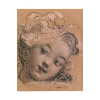 Porträtt som antas för att vara Rosalie Trätavla