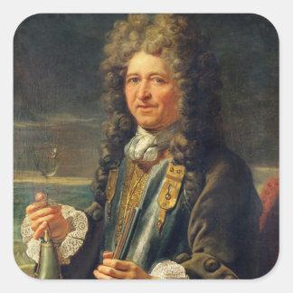 Porträtt som antas för att vara Sebastien le Fyrkantigt Klistermärke