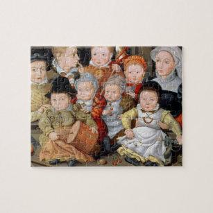 Porträtt T33337 av en mor med henne childre åtta Pussel 53f535ee62005