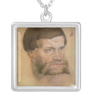 Porträtt tänkte för att vara av John det ståndakti Silverpläterat Halsband