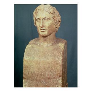 Porträttbyst av Alexander underbaren Vykort